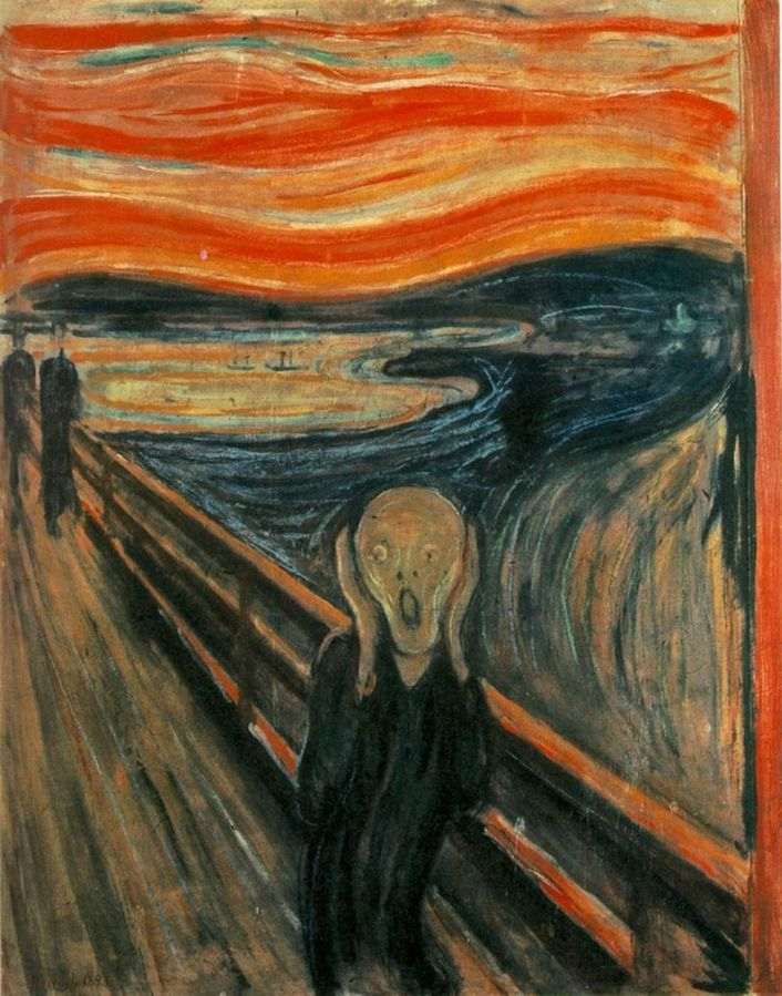 The Scream by Edvard Munch. Looks like someone needs a good dose of the Southern New Mexico WOW Factor.