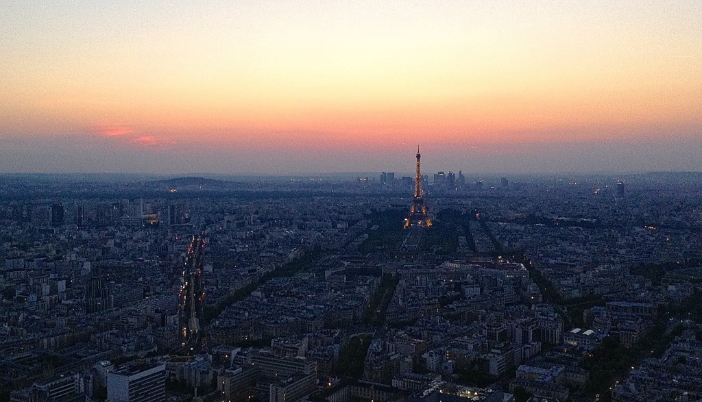 Paris Sunset, from What to Do When You Can't Forget Paris.