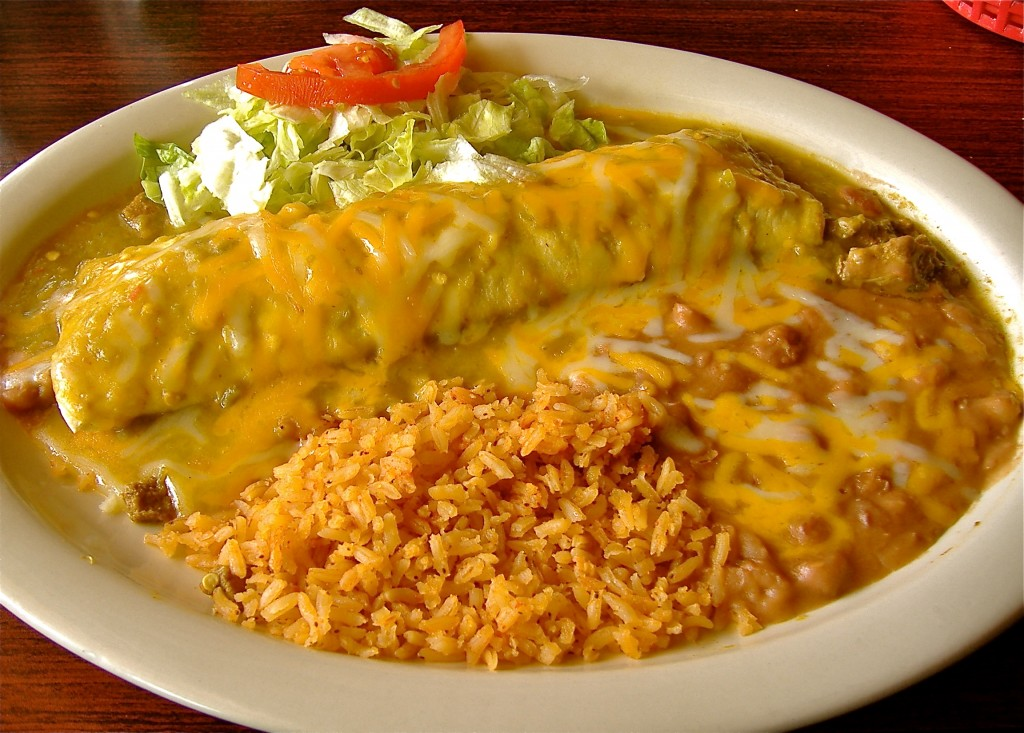 Green Chile Bañado Plate at Nellies' Cafe in Las Cruces.