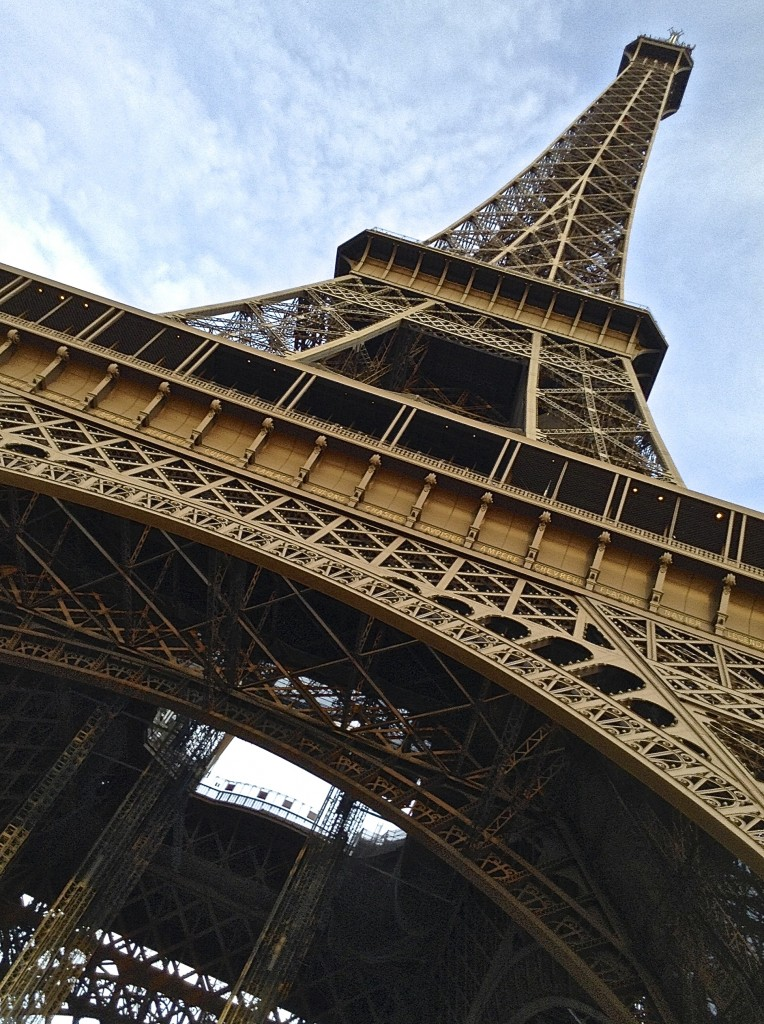 Tilting or straight up, the Eiffel Tower has no bad angles.