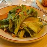 Salad, prelude to generous helpings of fabulous steak frites, le Relais de l'Entrecôte in Paris.