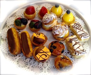 Petit fours ~ French Pastry Miniatures ~ at Le Rendez-vous Cafe & French Pastry in Las Cruces.