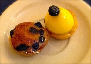 Blueberry & Lemon Curd Tartlets, le Rendez-vous Cafe & French Pastry in Las Cruces.