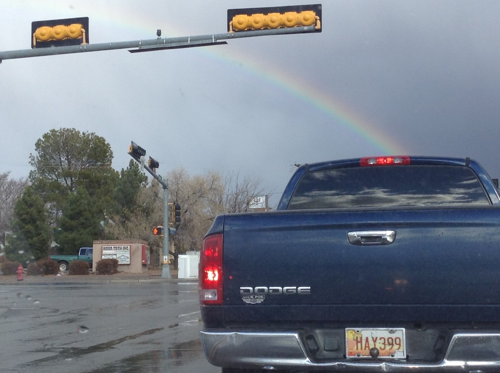 Seeing frequent rainbows, one of the fun things to do in New Mexico.