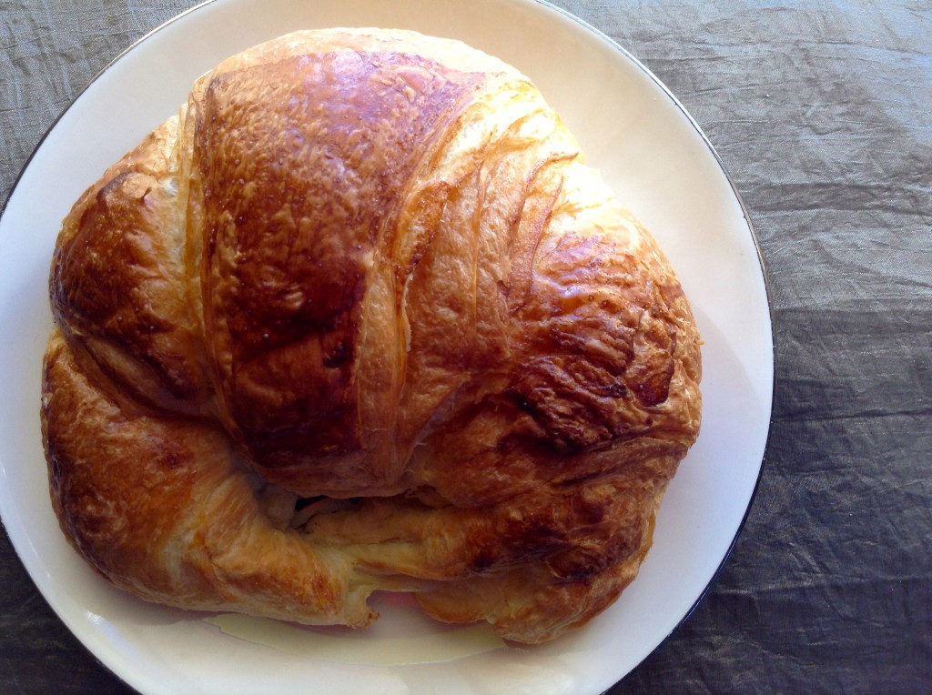 A very good croissant @ le Rendezvous Cafe in Las Cruces.