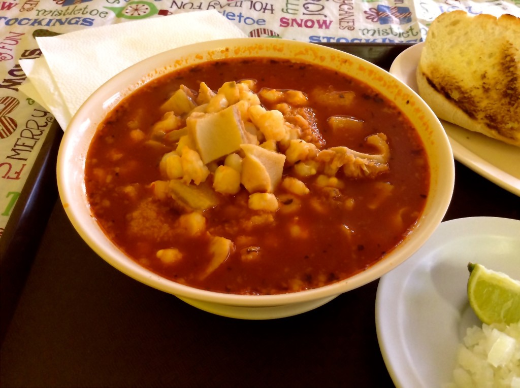 Dig in ~ it's menudo at Bravo's Cafe in Las Cruces.