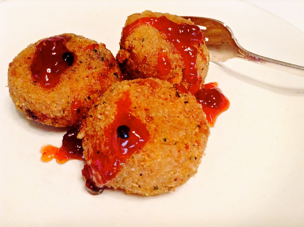 Sweet & spicy arancini.