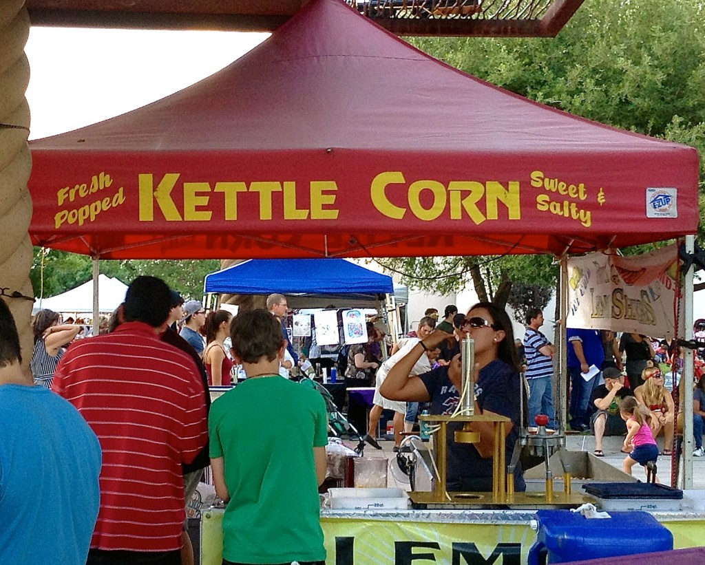 Kettle corn stand, Farmers Market, Las Cruces, New Mexico.