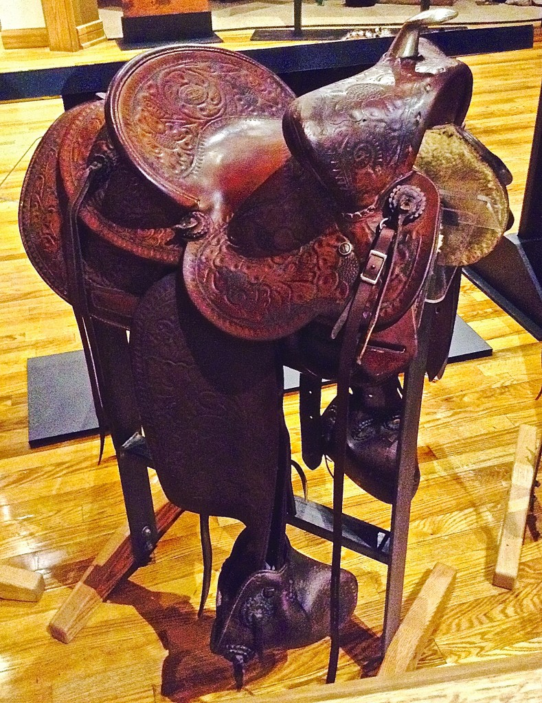 Hand tooled Saddle by J.B. Williams, a handsome souvenir of New Mexico's cultural past.