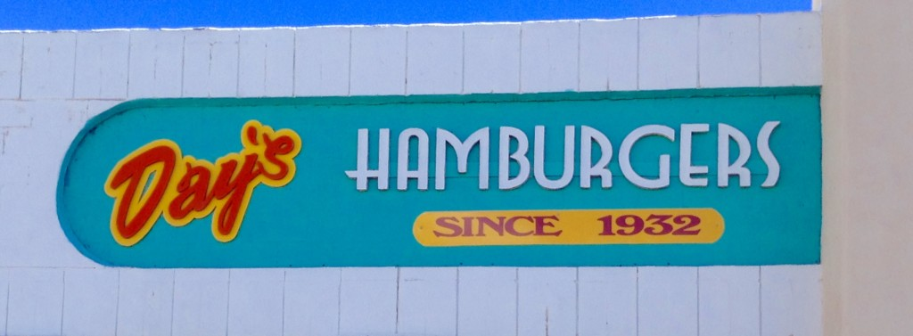 Signage at Day's Hamburgers, possibly Las Cruces' best little burger joint.