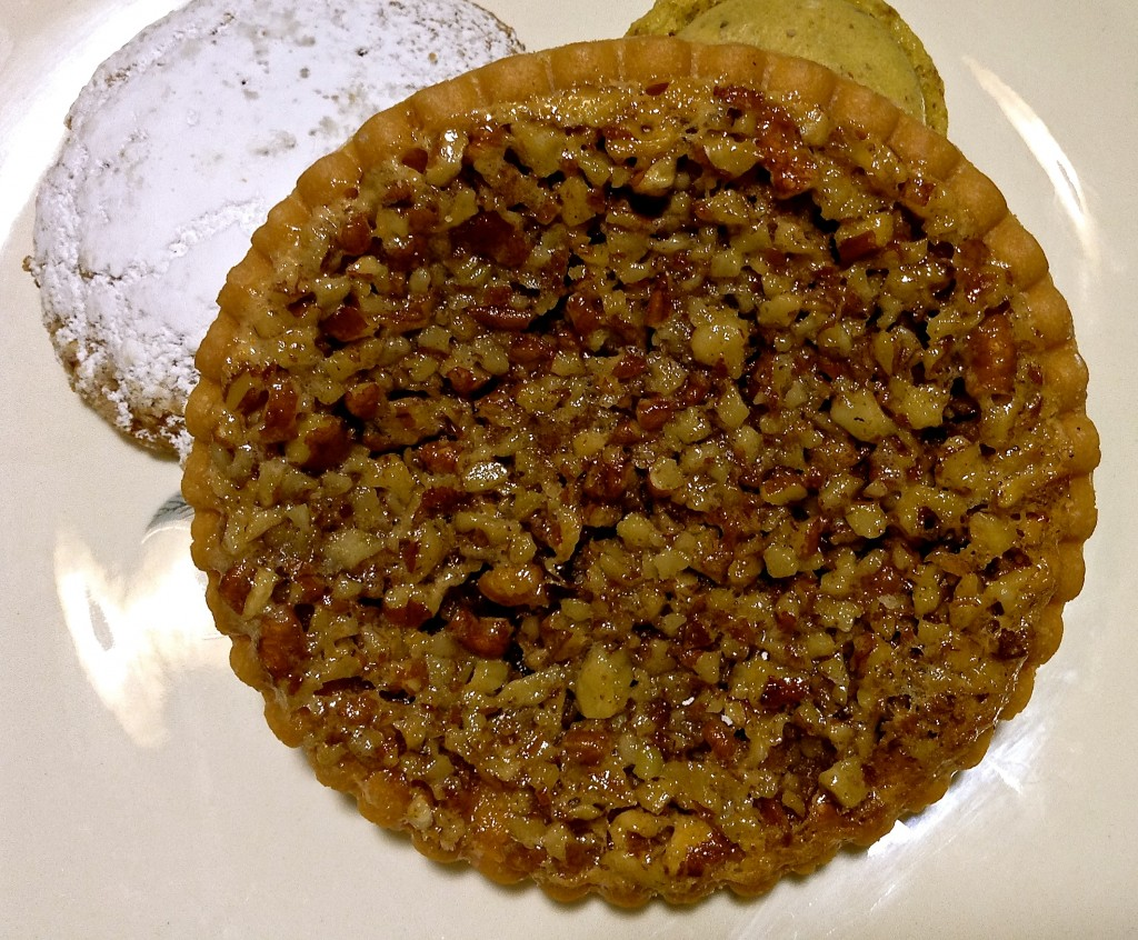 Pecans from the groves on New Mexico Highway 28 are delicious in tarts like this from le Rendezvous Cafe & Bakery.