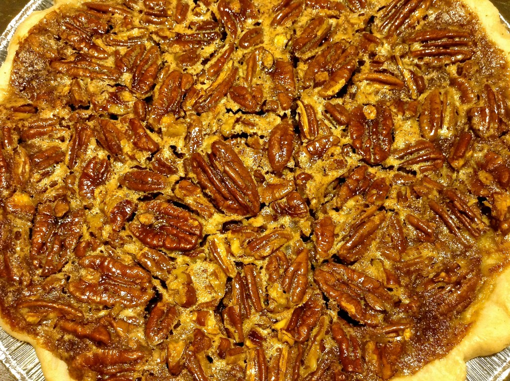 Pecan pie with pecans sourced from a grove off New Mexico Highway 28.