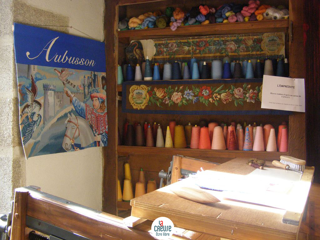 Visiting a tapestry workshop is one fun thing to do between bites on your French pastry tour. Image: Maison du Tapissier Aubusson by Tourisme Creuse.