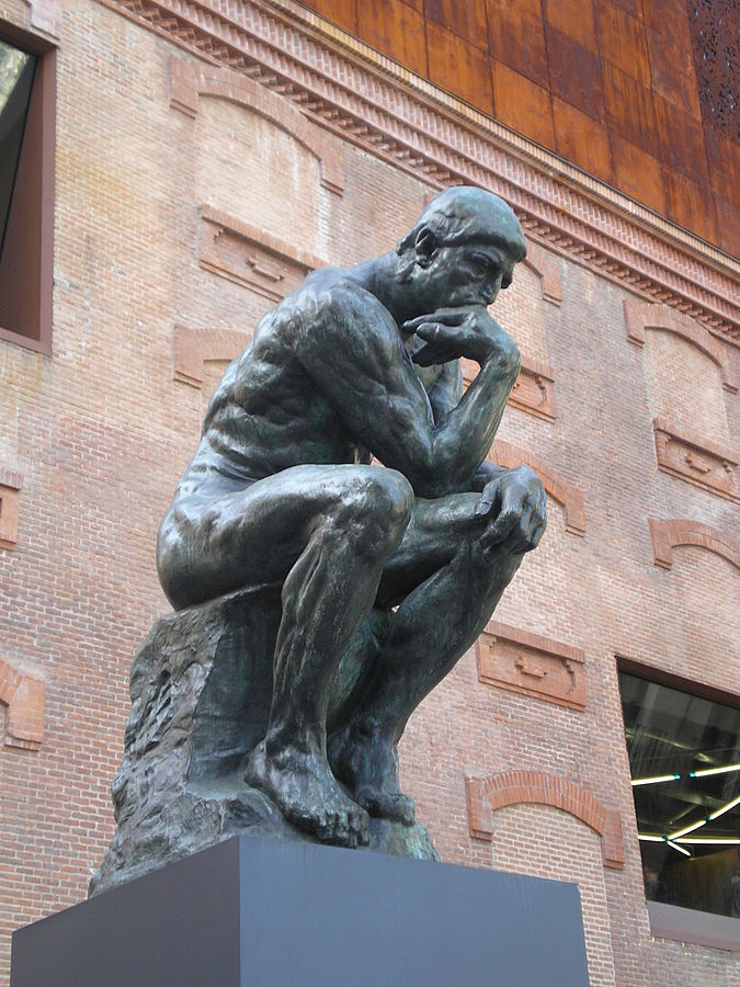 Rodin's The Thinker (@CaixaForum in Madrid) Image is by Carlos Delgado.