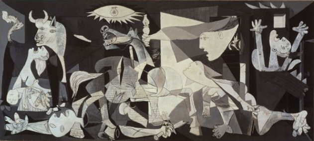 The best place to view the paintings of Picasso, Goya, Velázquez and other Spanish artists is at the Prado in Madrid. Image: Picasso's Guernica via Wikipedia.
