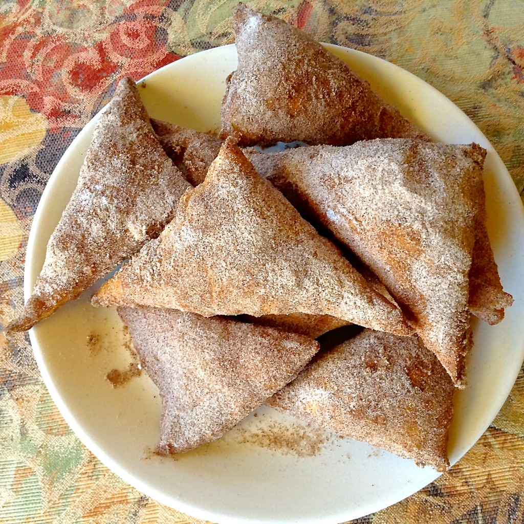 These cinnamon sugar-covered sopapillas are a sweet New Mexico taste of home.