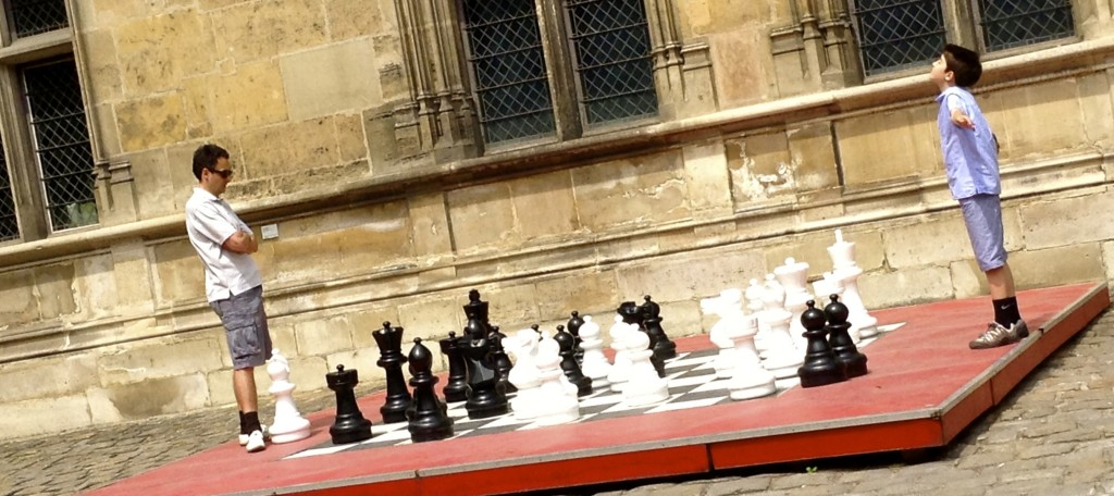 Watch a living chess game at Musée de Cluny on your solo trip to Paris.