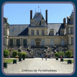 Château de Fontainebleau with its horseshoe staircase (escalier en fer-à-cheval), Fontainebleau, France ~ Paris off the beaten path.