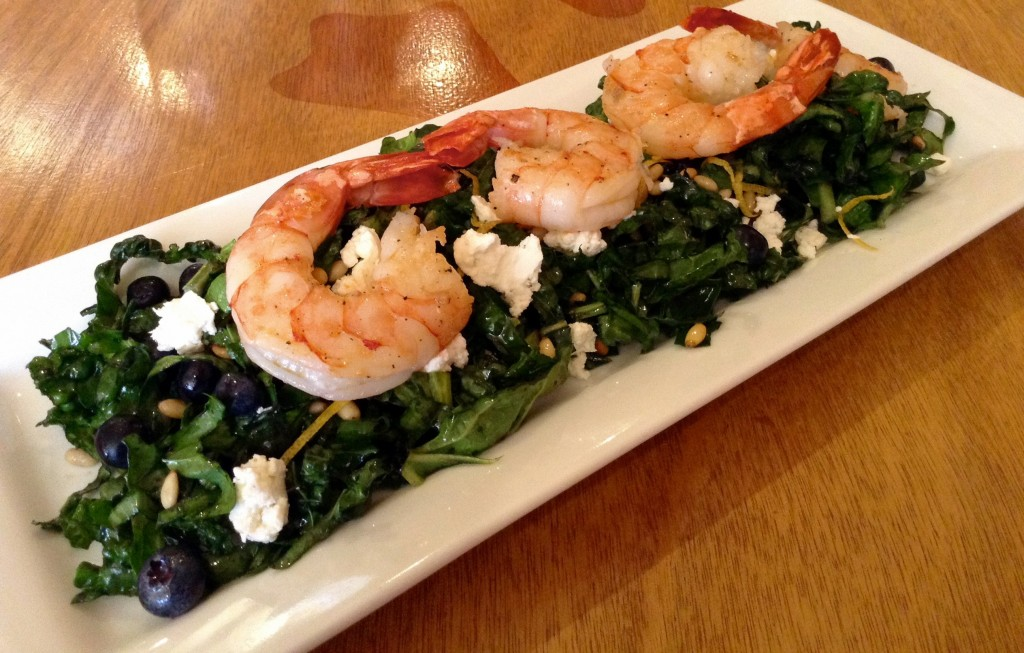 Kale, Spinach, & Blueberry Salad @ Tre Rosat Cafe, a fresh example of New American cuisine.