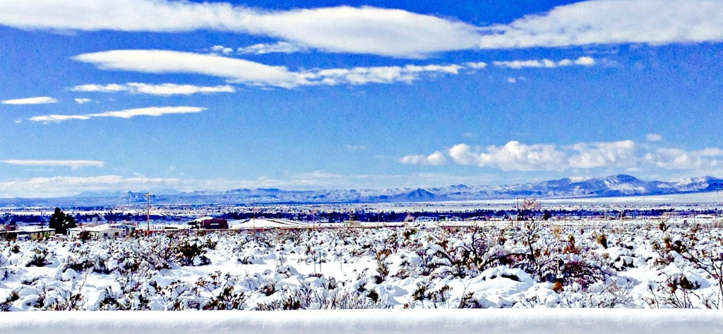 White Day After Christmas in Las Cruces panorama.