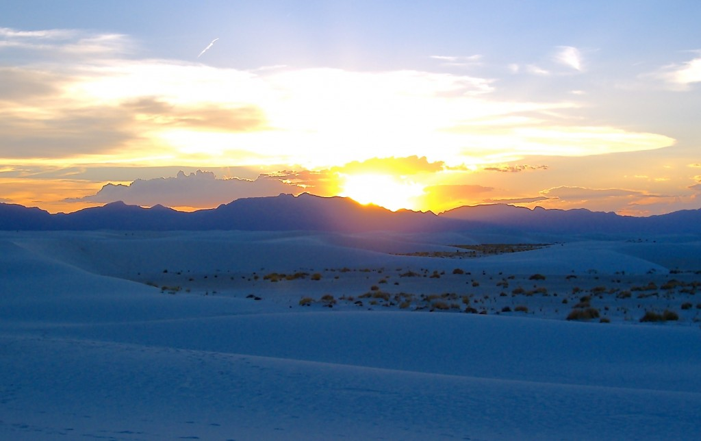 Late Summer Sunset @ White Sands National Monument, Alamogordo in Southern New Mexico.