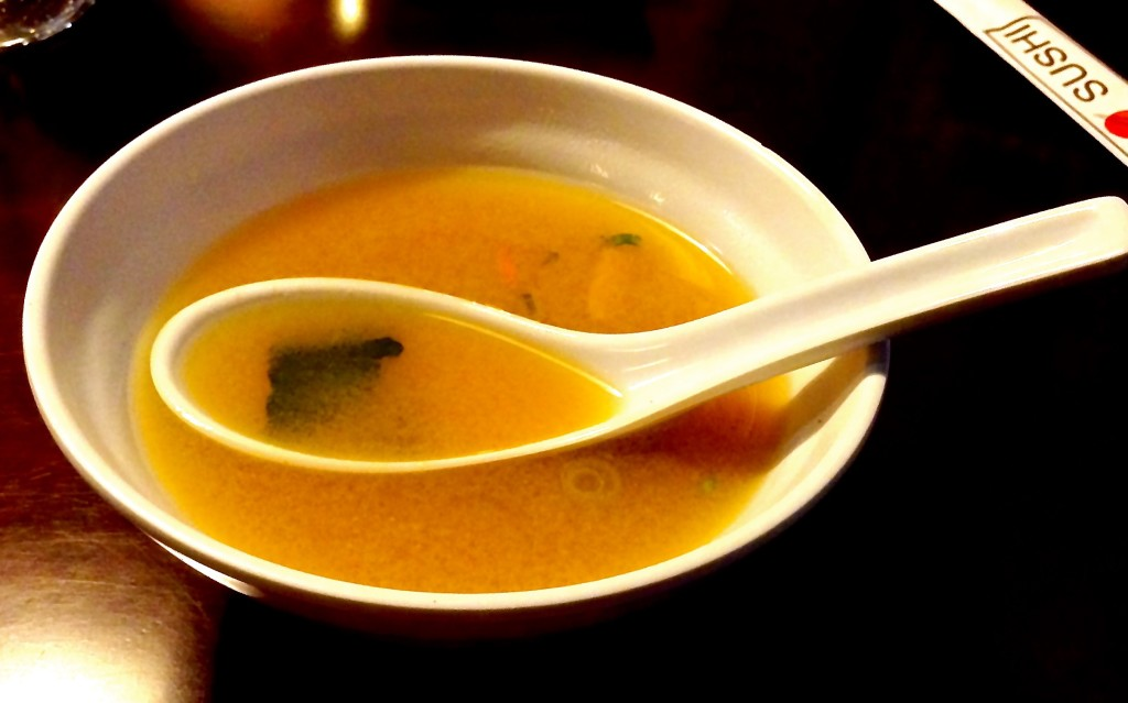 Miso soup, Sunny's Sushi review.