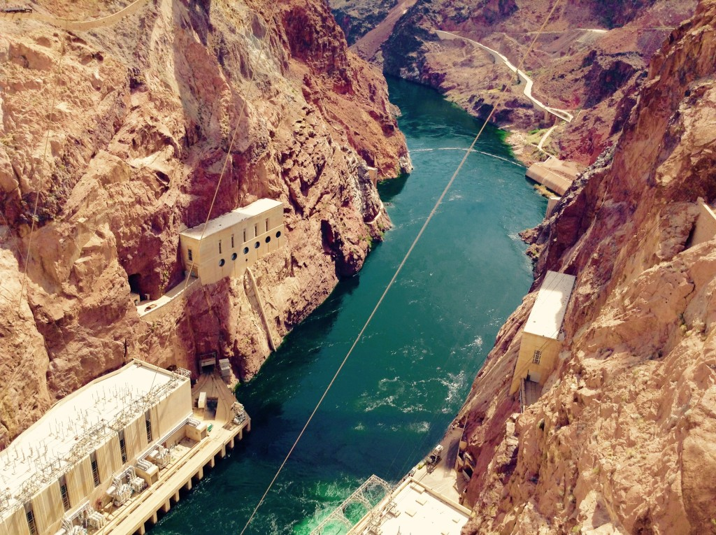 Engineering made easy ~ the Colorado River at Hoover Dam.