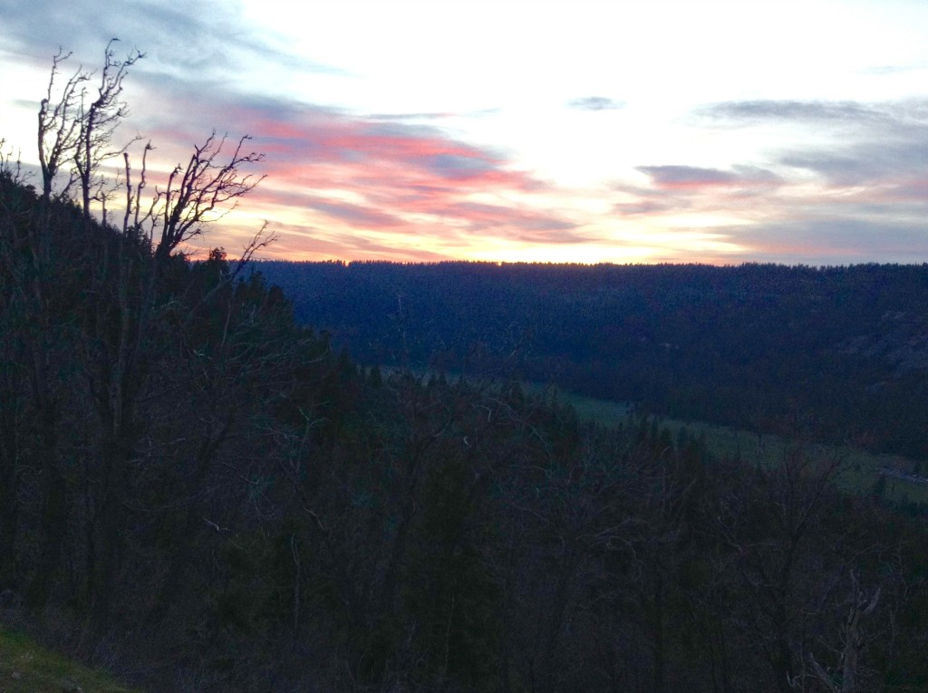 Sunset view, Tahoe National Forest, Way West Road Trip