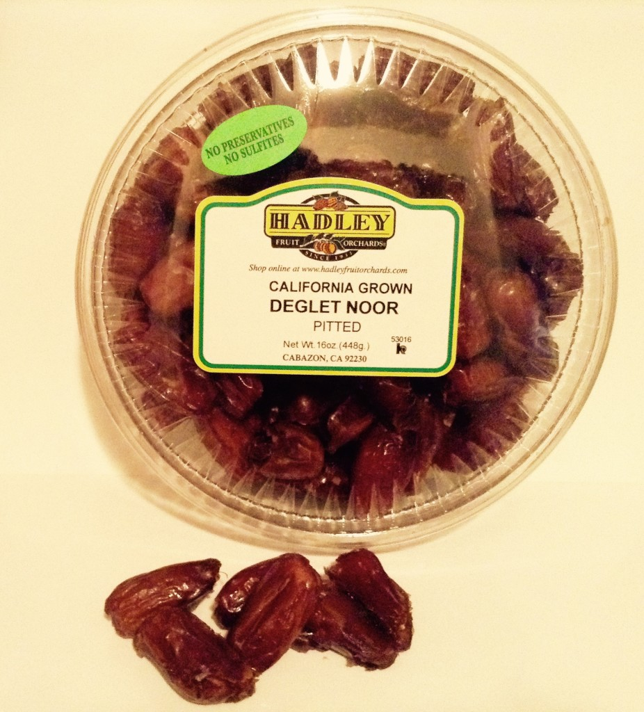 Deglet Noor dates, the variety of dates used in those DE-LICIOUS Hadley's Date Shakes.