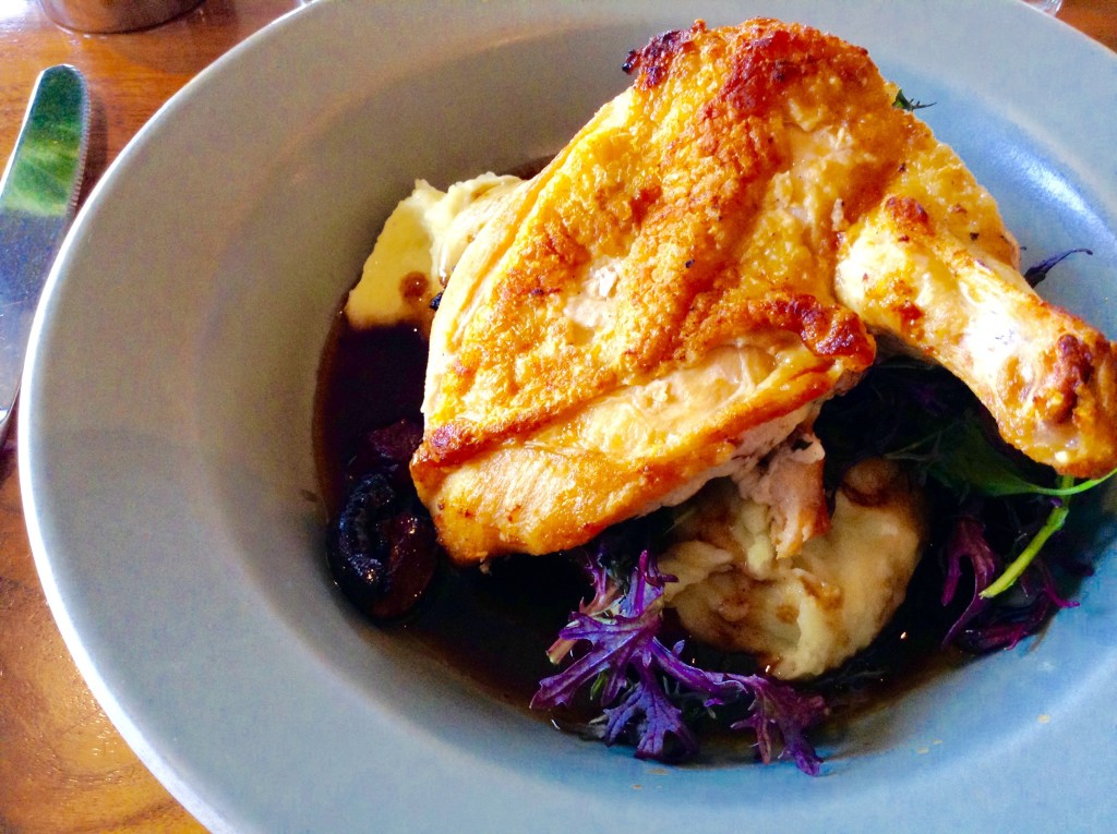 Roast chicken dish, Barrel House, in Sausalito ~ one of 5 (+1) Northern California places for great meal.