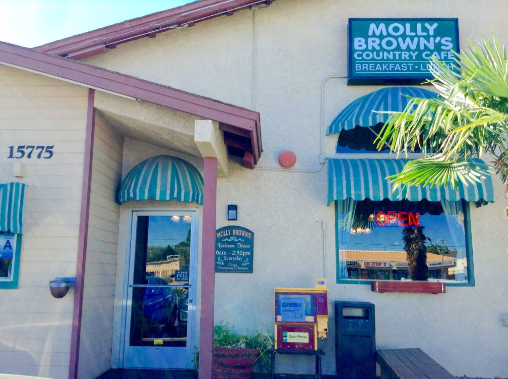 Molly Brown's Country Cafe, where you can eat a real food breakfast in Victorville, CA.