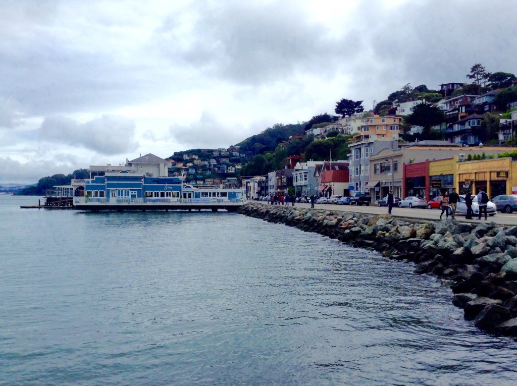 The waterfront in Sausalito, one of 5 (+1) Northern California places where you'll find great food.