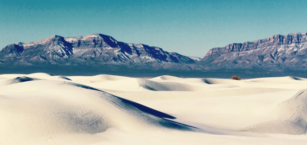 A must-see for your Southwest travel: White Sand Dunes and San Andres Mountains, White Sands National Monument, New Mexico by sumikophoto.