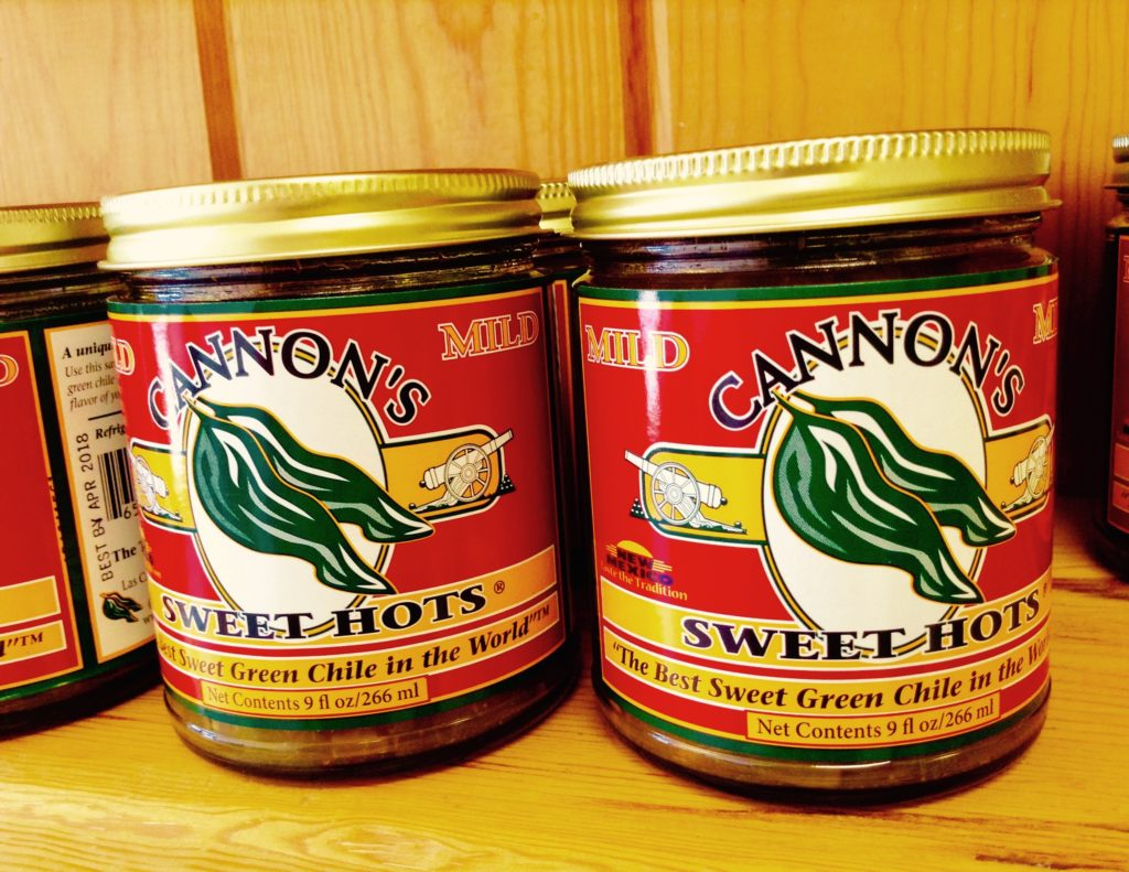 The sweet hot chile peppers in these jars of Sweet Hots are Hatch green chile.