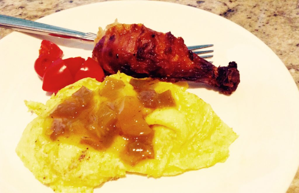 The sweet hot chile peppers in these Sweet Hots with scrambled eggs are from Hatch, New Mexico.