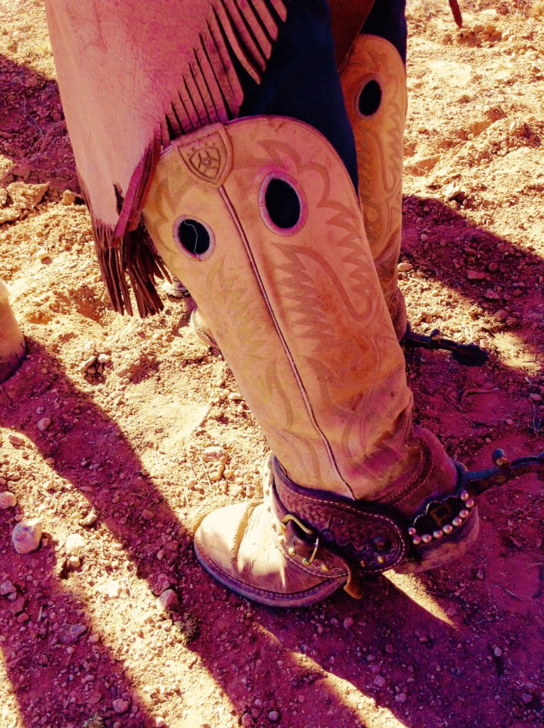 Trail Ride guide Billy Prewitt's fab footware is not quite but almost as remarkable as the countryside you'll see on your Corralitos adventure.