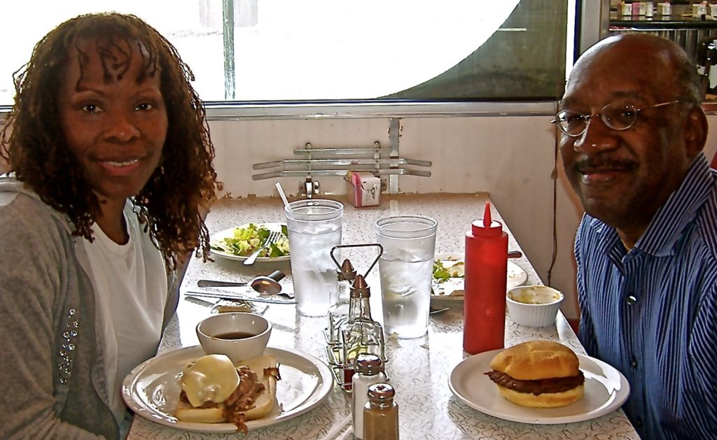 A woman, her man, and good eats at the I-70 Diner, a classic retro diner in Flagler, CO.
