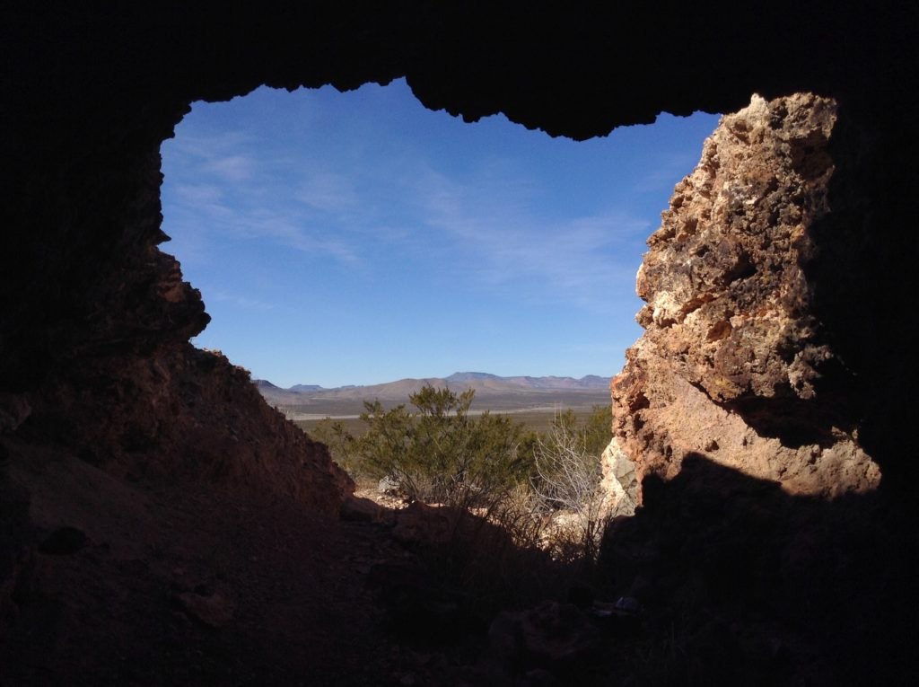 View from inside a Robledo Mountains cave on the Corralitos Ranch Trail Ride.