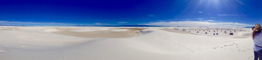 White Sands morning in Alamogordo, New Mexico ~ the perfect place AND time to get away from it all.