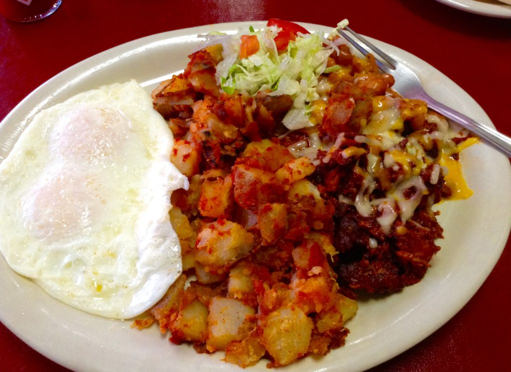 Mesilla Valley Kitchen's carne adovada plate is a perfect breakfast if you like it hot and flavorful.