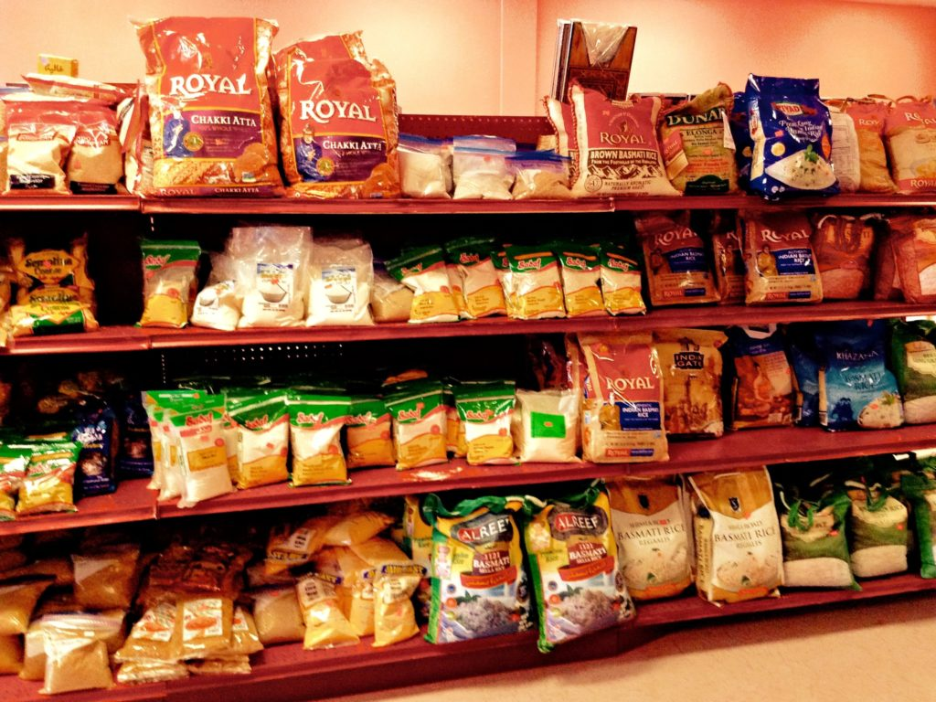 Aden Market's new look and location includes an expanded rice section with more brands from India.