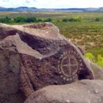 Circle of corn drawing, Three Rivers Petroglyphs site