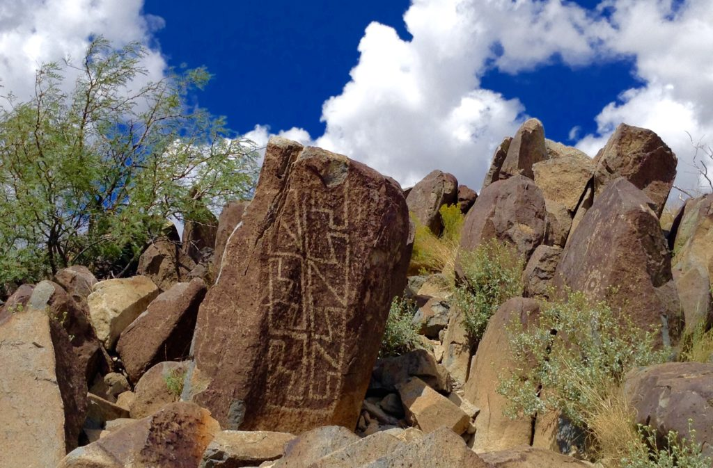 Prehistoric rock art is here, there and everywhere at Three Rivers Petroglyph Site near Tularosa, NM.