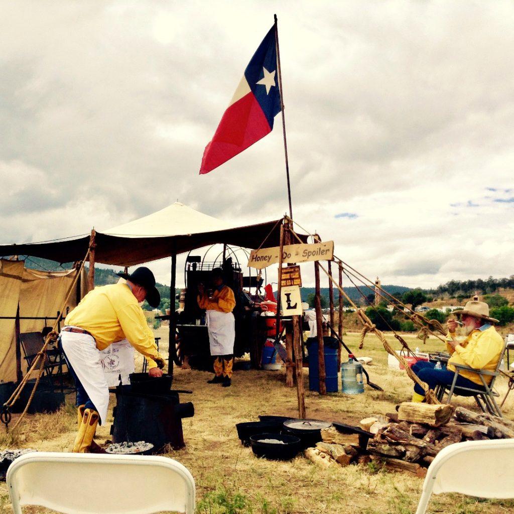 Honey Do Spoiler, a chuckwagon at the cowboy festival known as the Lincoln County Cowboy Symposium.