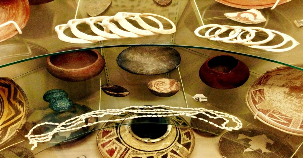See prehistoric jewelry like these Mimbres bracelets and necklaces on your New Mexico history tour.