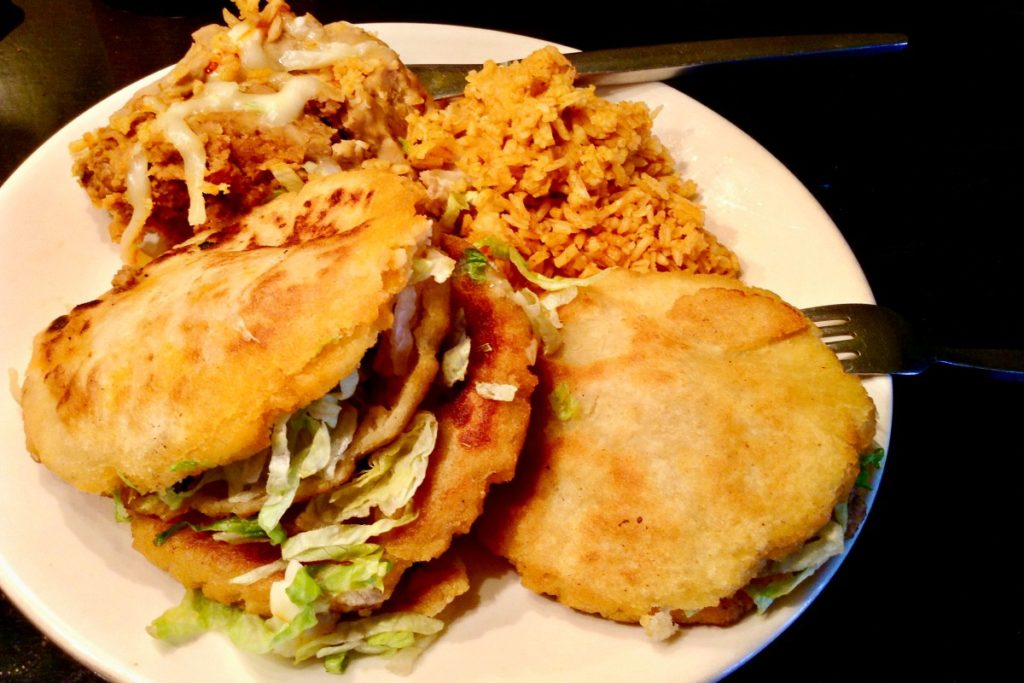 Enjoy lunchtime El Paso style with this gordita plate from Rafa's Burritos.