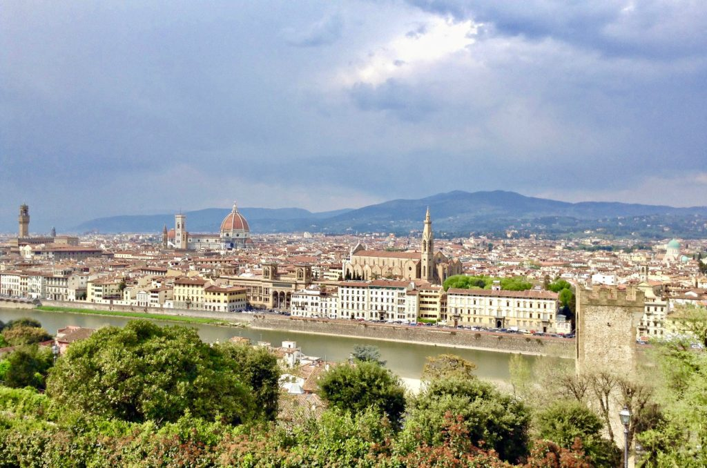 View the best of Florence from Piazzale Michelangelo when you take a break from touring the city's best gelato shops.