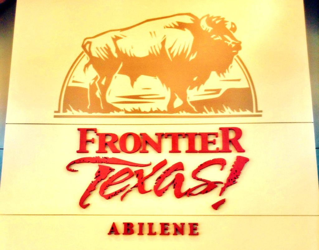 The signage in the Frontier Texas lobby reminds us how important the buffalo once was on the Texas frontier.