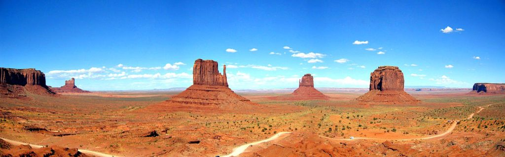 Monument Valley (straddling Arizona and Utah) is one sight you won't forget from your Southwest travel adventure; photo by Moritz Zimmermann, CC by SA 3.0.