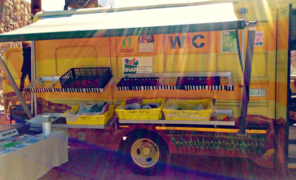 The farm fresh truck known as the Farm Fresh Mobile Farmers Market sells fresh, organic, and local food in the Southern New Mexico cities of Chaparral, Anthony, Las Cruces, and Sunland Park and El Paso, Texas.